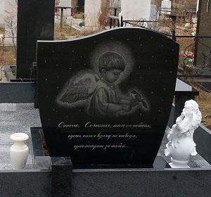 Памятник на детскую могилу с ангелом Эконом памятник горизонтальный Волна Щекино